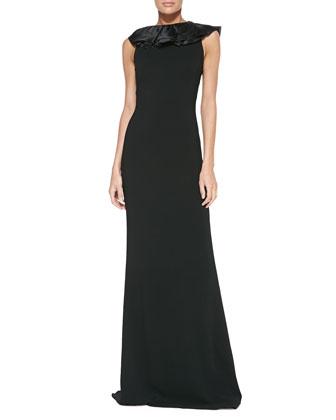 Venizia Ruffle-Detail Gown