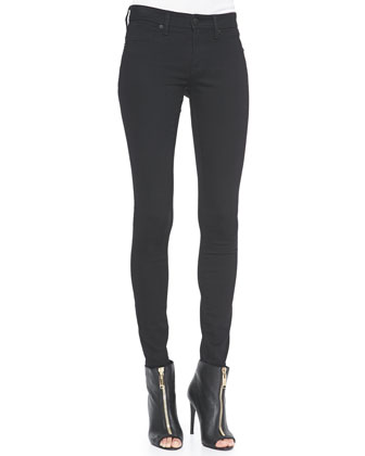 4-Way Stretch Travel Jeans, Black