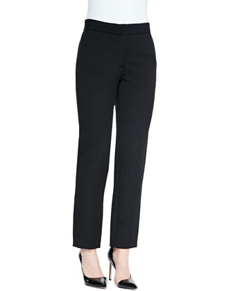 Cashmere-Blend Asymmetric-Hem Tank & Cropped Straight-Leg Trousers