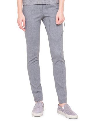 Mara Knit Leggings, Silver