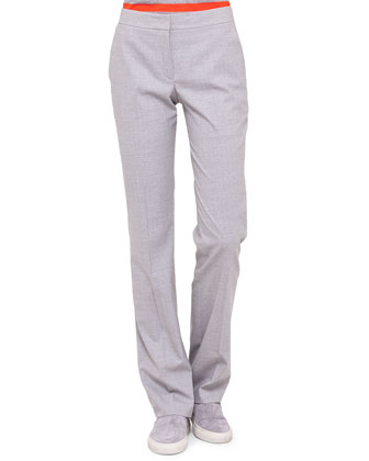 Faubourg Straight-Leg Pants, Gray