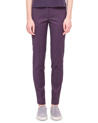 Fabia Punto Jacquard Pants with Belt Loops