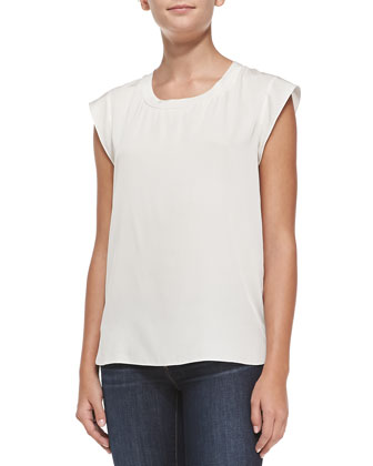 Cap-Sleeve Muscle, White