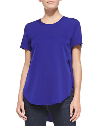 Overlapping Side-Seam Blouse, African Violet