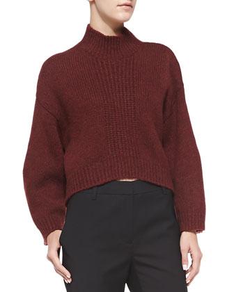 High-Low Pullover w/ Zipper Detail