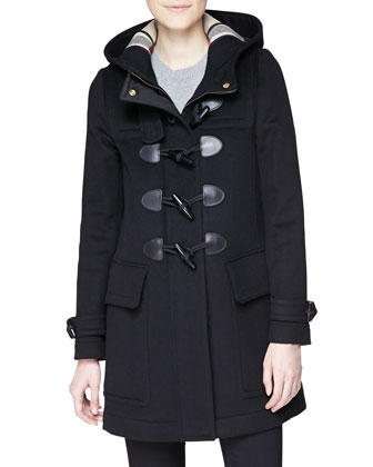 Hooded Duffle Coat w/ Toggles