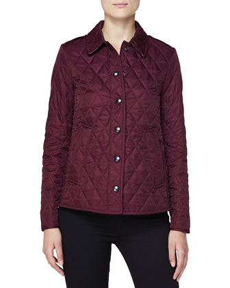 Quilted Snap Jacket, Dark Claret