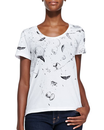 Raining Cat & Dogs-Print Tee