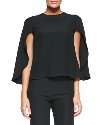 Cady Cape-Sleeve Top