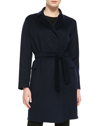 Double-Face Cashmere Tie Coat