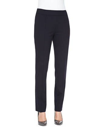 Wool Crepe Ankle Trousers