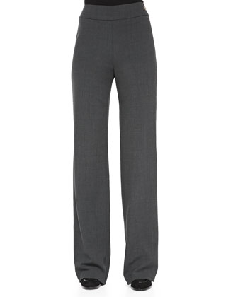 Wide-Leg Side-Zip Trousers