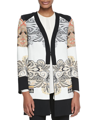 Printed Short Topper Coat