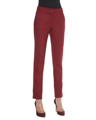 Classic Ankle Pants, Red