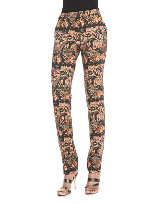 Stretch Stencil Paisley Pants