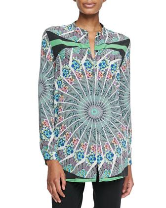 Mandala Printed Silk Tunic