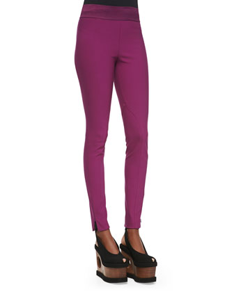 Zip Ankle Leggings, Hyacinth