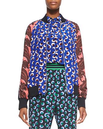 Blossom/Paisley Print Jacket