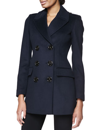 Double-Breasted Military Coat, Navy