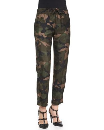 Silk Twill Camo Pants