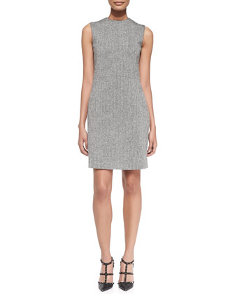 Herringbone Sheath Dress with Pockets