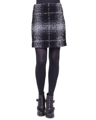 Oversize-Check Combo Skirt