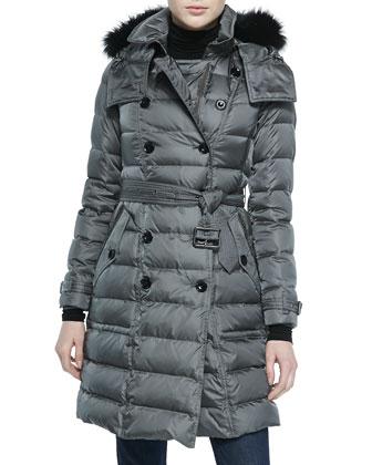 Down Jacket W/ Removable Fur-Trim Hood