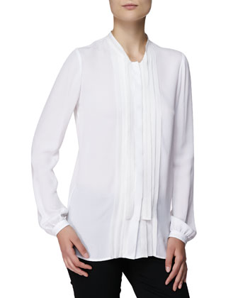 Dead Bow Blouson Shirt, White