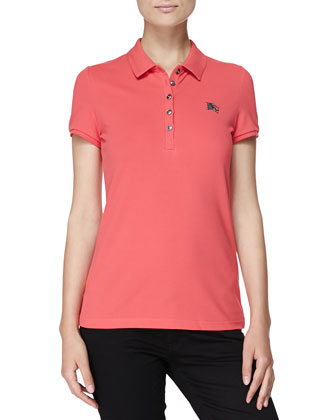 Short-Sleeve Polo, Pink