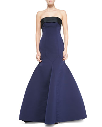 Strapless Double-Face Ottoman Duchesse Gown