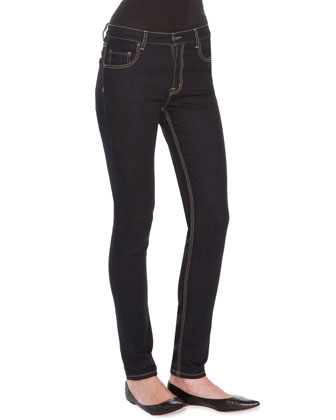 Low Rise Straight-Leg Denim Jeans