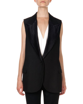 Woven Single-Button Vest