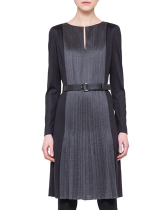 Allover-Pleated Jersey Dress