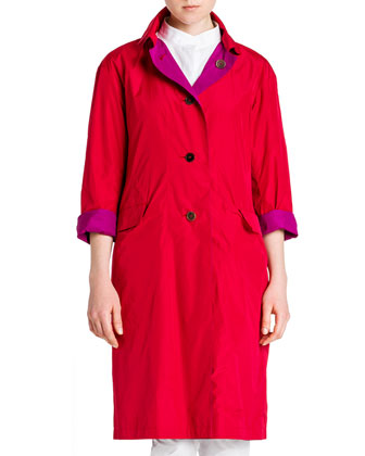 Lightweight Reversible Flap-Pocket Coat, One-Pocket Poplin Blouse & Tommy ...