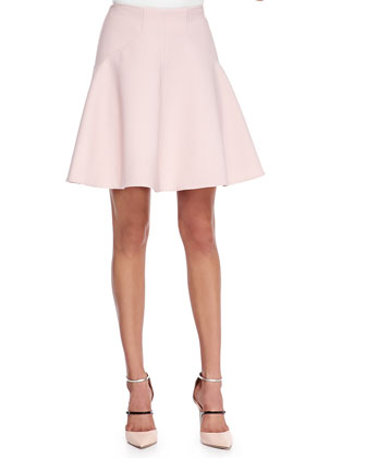 Box-Pleated A-Line Skirt
