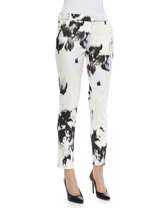 Caroline Printed Ankle Pants