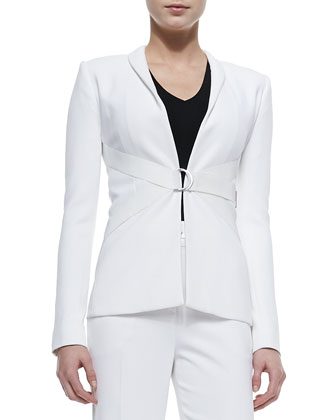 Tux Shawl-Collar Double-Strap Jacket