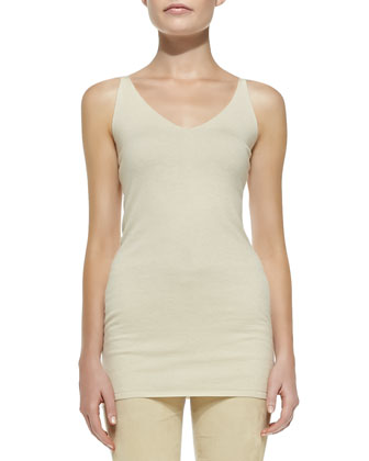 Sleeveless V-Neck Tunic