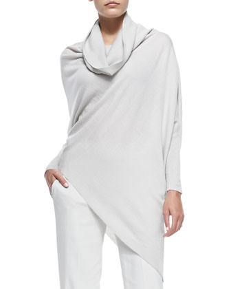 Cashmere Asymmetric Slouchy Tunic