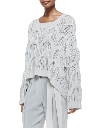 Cashmere Oversized Boat-Neck Sweater