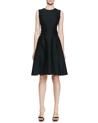 Sleeveless Dress w/ Side Button Overlays