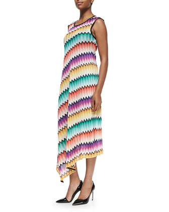 Degrade Zigzag-Knit Maxi Dress