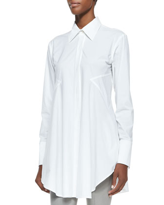 Easy Button-Down Shirt, White