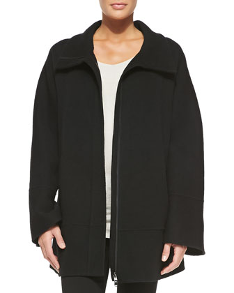 Cashmere Coat w/ Hidden Zipper