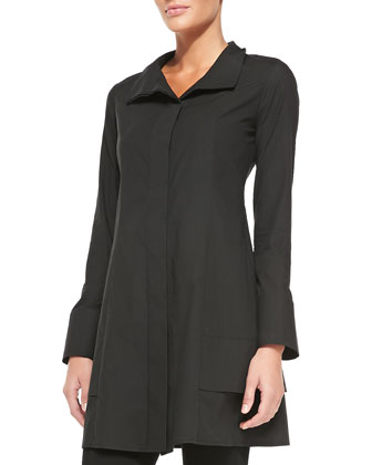 Long-Sleeve Tunic Jacket