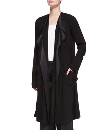 Fluid Drape Pocket Coat