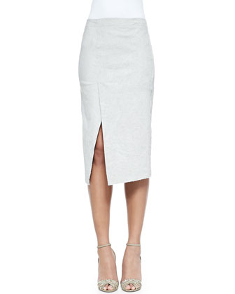 Scissor-Hem Pencil Skirt