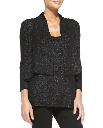 Cashmere Cropped Sequined Cardigan