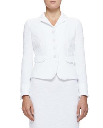 Cotton Boucle Suit Jacket