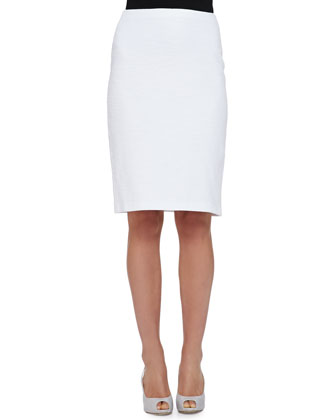 Cotton Boucle Pencil Skirt